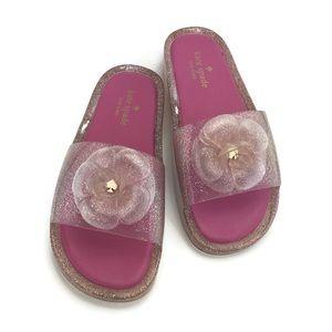 Kate Spade Glittery Jelly Flip Flop Pink Size 8B